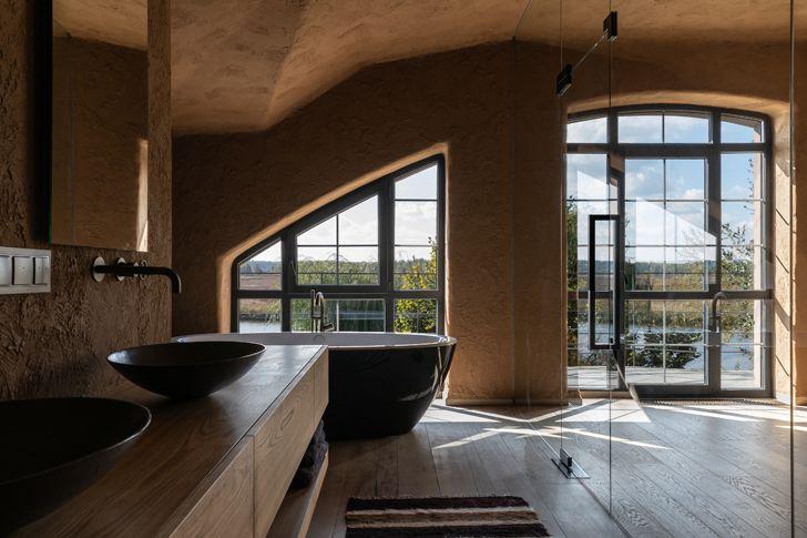 """glass walled bathroom ukraine home wabi sabi sergey makhno architects indiaartndesign"""