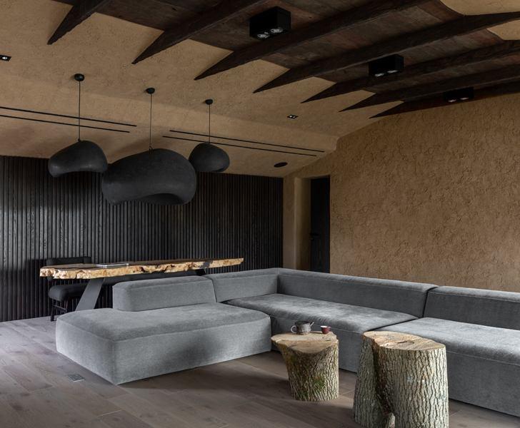 """living room ukraine home wabi sabi sergey makhno architects indiaartndesign"""