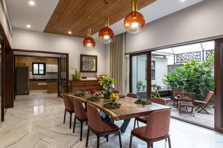 """""""dining axis house nagpur the grid architects indiaartndesign"""""""