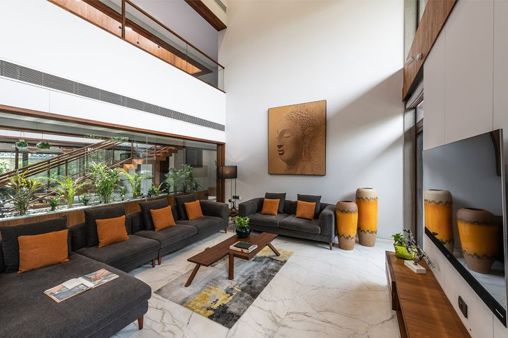 """""""formal living axis house nagpur the grid architects indiaartndesign"""""""