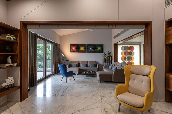 """""""lounge axis house nagpur the grid architects indiaartndesign"""""""