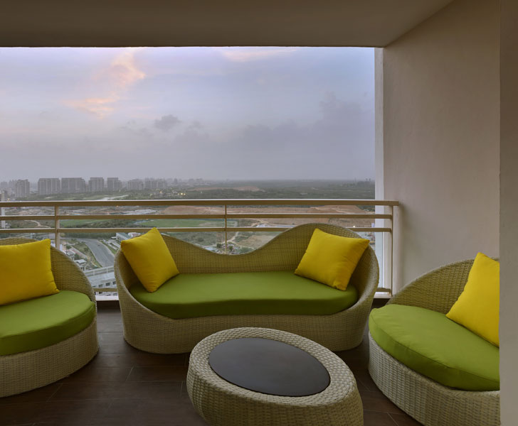 """balcony deck Gurugram home AVGArchitectureEnInteriors indiaartndesign"""