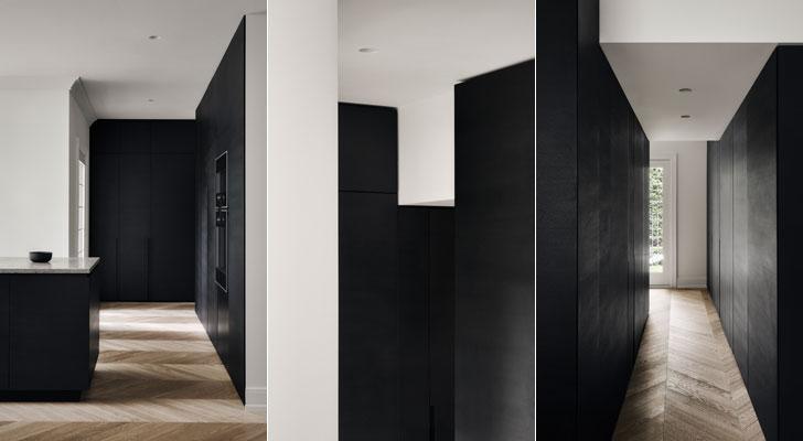 """black walls Portland residence atelier barda indiaartndesign"""