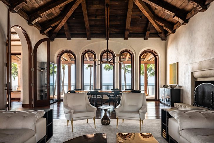 """high ceiling Naples residence Florida ChampalimaudDesign indiaartndesign"""