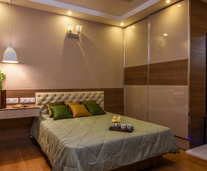 """bedroom BrigadeOrchard residence IBRDesigns indiaartndesign"""