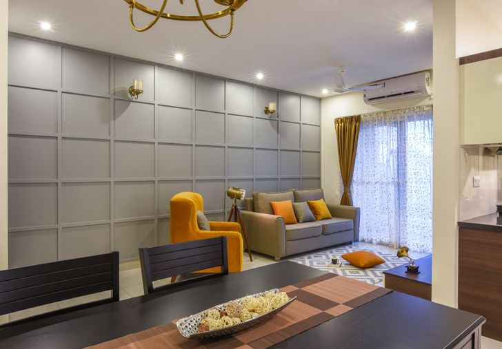 """living dining BrigadeOrchard residence IBRDesigns indiaartndesign"""