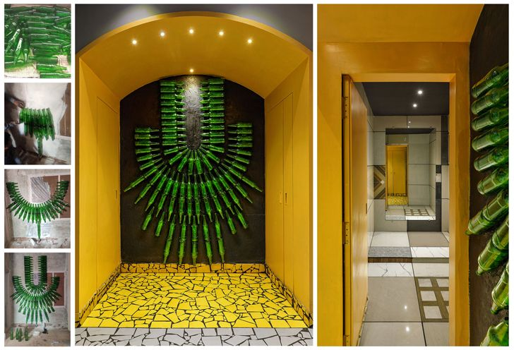 """beer bottles display ShefaliStudio ManojPatelDesignStudio indiaartndesign"""