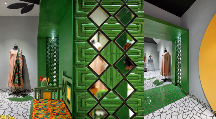 """mirror cladding ShefaliStudio ManojPatelDesignStudio indiaartndesign"""