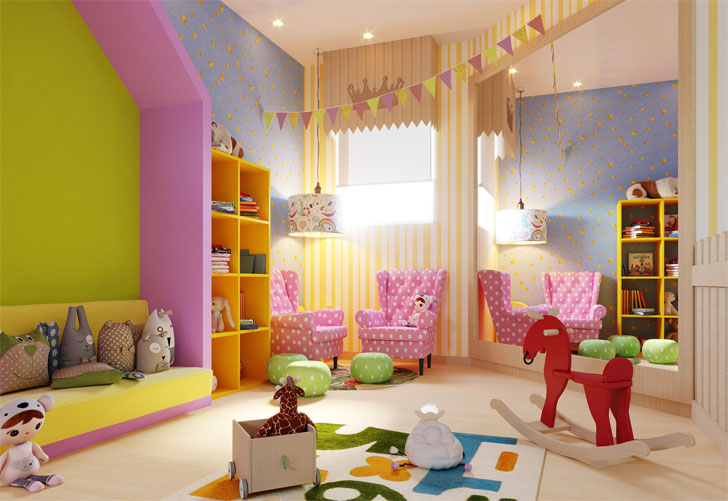 """multi activity room childcare kajal gaba indiaartndesign"""
