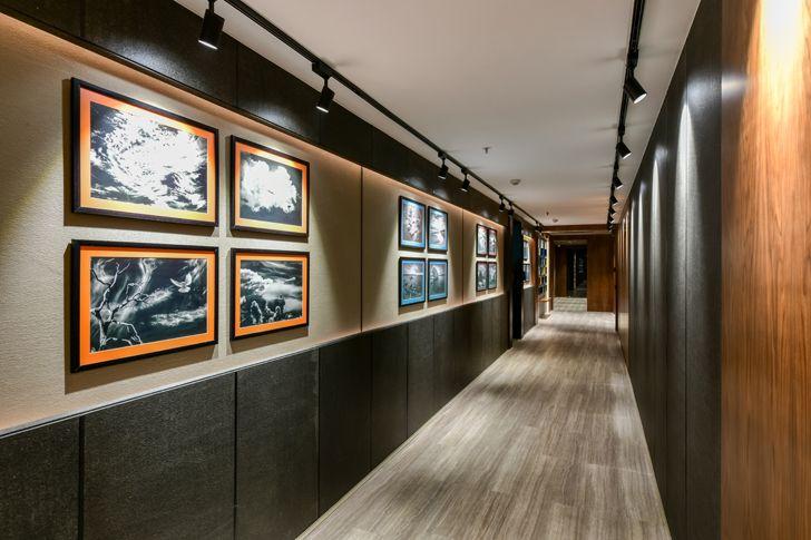 """corridor as art gallery RupandeShah MyGoToTherapist indiaartndesign"""