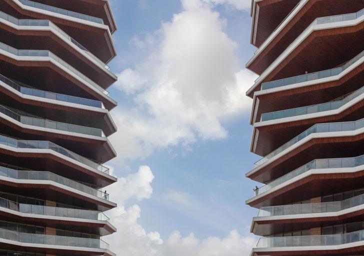 """angular outdoor decks Excellenseaa126 HappyHomes Surat SanjayPuriArchitects indiaartndesign"""