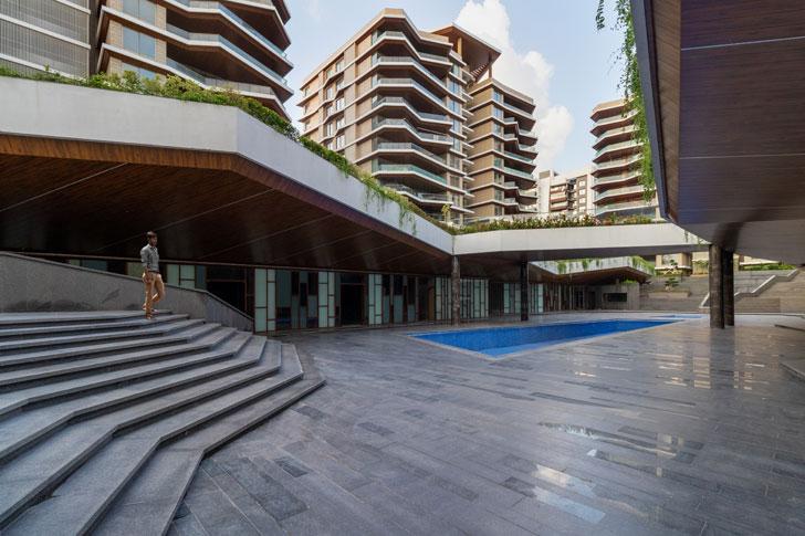 """open spaces Excellenseaa126 HappyHomes Surat SanjayPuriArchitects indiaartndesign"""
