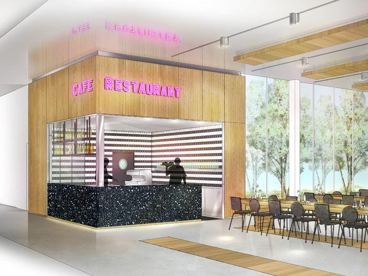 """restaurant impression depot rotterdam concrete indiaartndesign"""