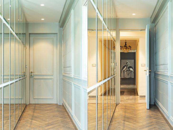 """bedroom passage Luxury apartment mumbai ayeshapuri indiaartndesign"""