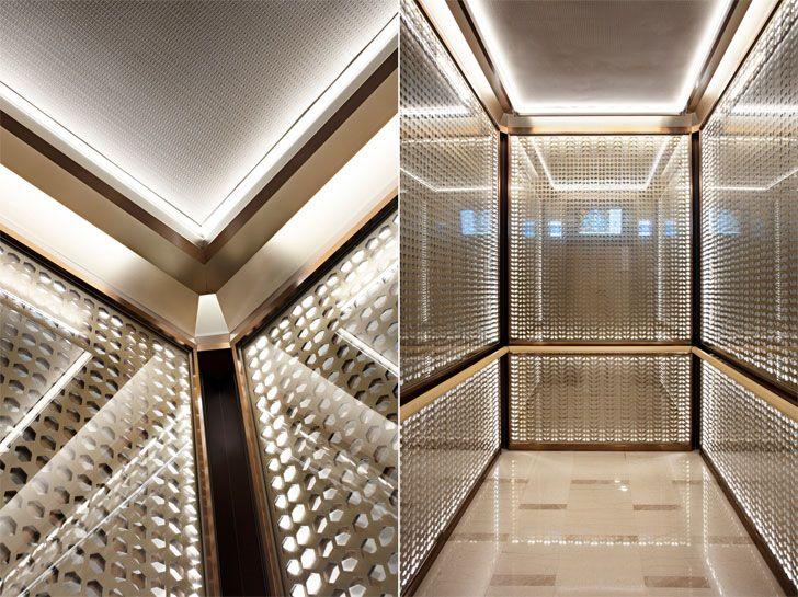 """elevator interiors GrandGatewayNorthBuilding Shanghai EGGL indiaartndesign"""