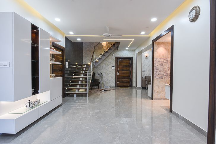 """entrance foyer Bengaluru home TheLineStudio indiaartndesign"""