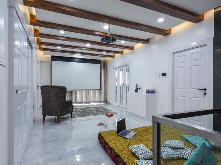 """home theatre Bengaluru home TheLineStudio indiaartndesign"""