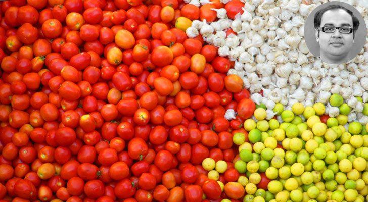 """tomatoes lemons garlic AnkonMitra MyGotoTherapist indiaartndesign"""