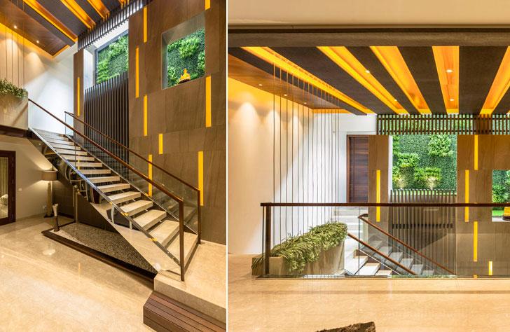 """main staircase AccordHouse PlanetDesignStudio indiaartndesign"""