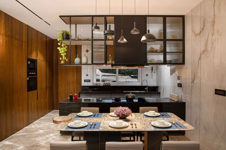 """dining and kitchen surat home studio17 indiaartndesign"""