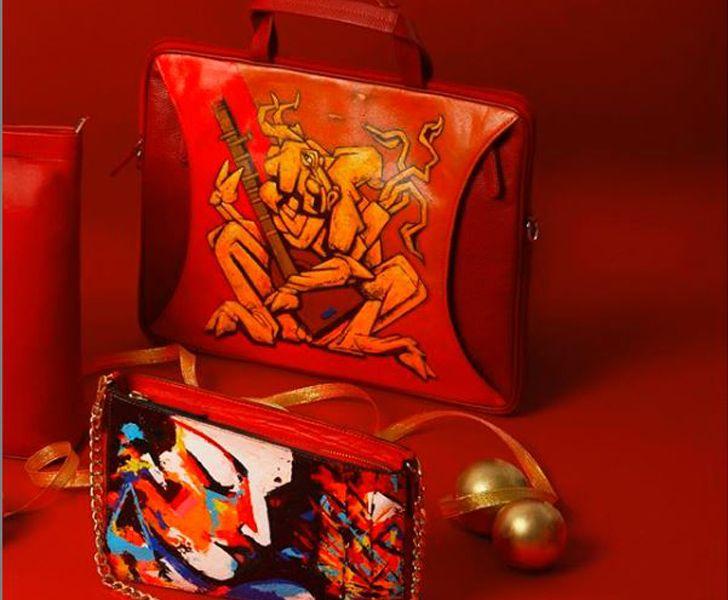 """""""Paul Adams hand painted handbags indiaartndesign"""""""