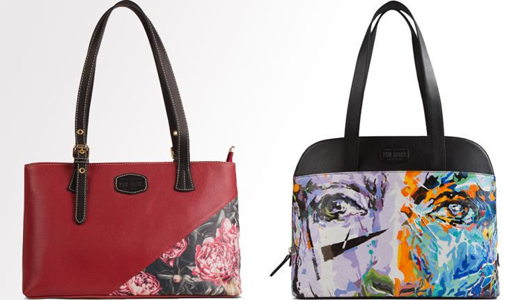 """Paul Adams hand painted handbags indiaartndesign"""