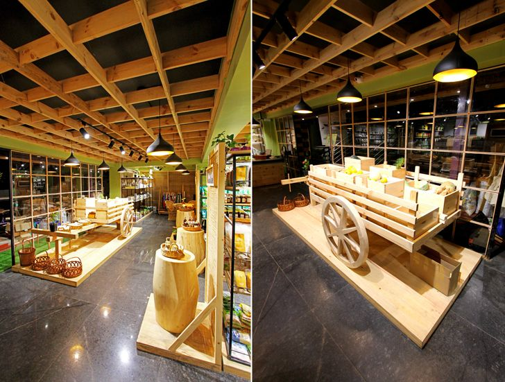 """display Arogya Organic store Redwall Design Studio indiaartndesign"""