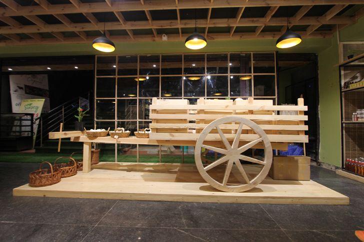 """signatory bullock cart Arogya Organic store Redwall Design Studio indiaartndesign"""