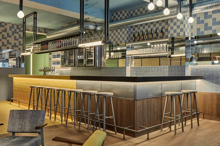 """bar Ottos burger restaurant Studio Modijefsky indiaartndesign"""