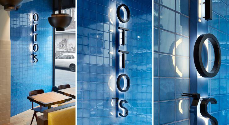 """logo design Ottos burger restaurant Studio Modijefsky indiaartndesign"""