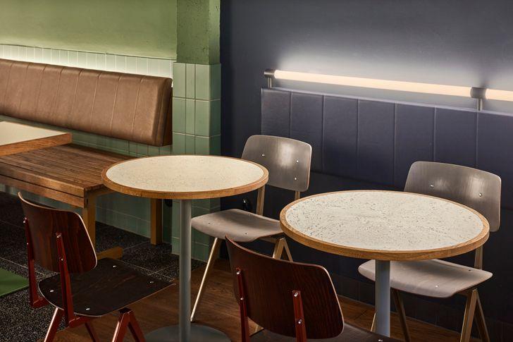 """seating design Ottos burger restaurant Studio Modijefsky indiaartndesign"""