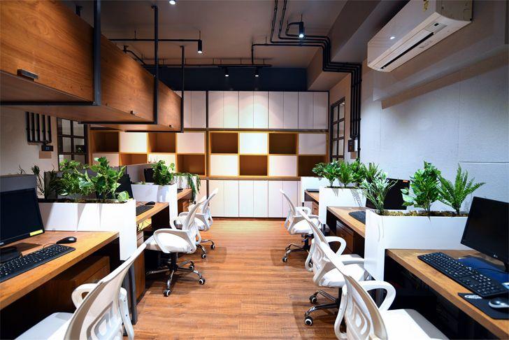 """""""green plants vadodara office chiragrajdesignstudio indiaartndesign"""""""