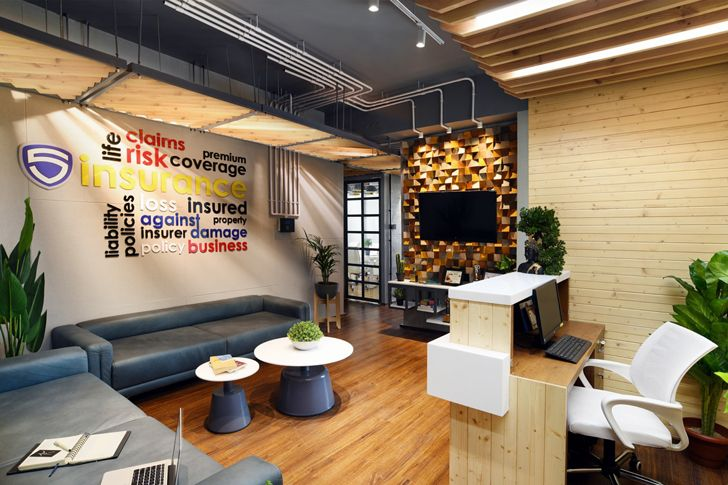 """reception area vadodara office chiragrajdesignstudio indiaartndesign"""