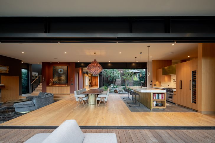 """living room canyon house Conner+PerryArchitects indiaartndesign"""