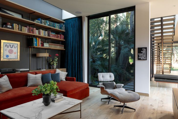"""lounge canyon house Conner+PerryArchitects indiaartndesign"""