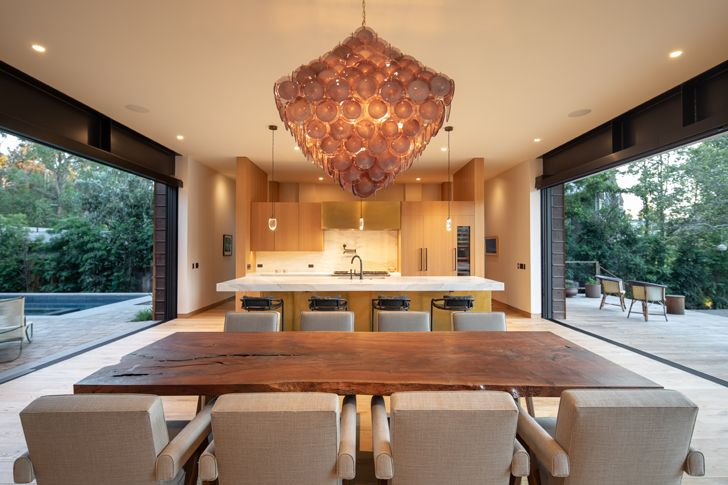 """open kitchen and dining canyon house Conner+PerryArchitects indiaartndesign"""