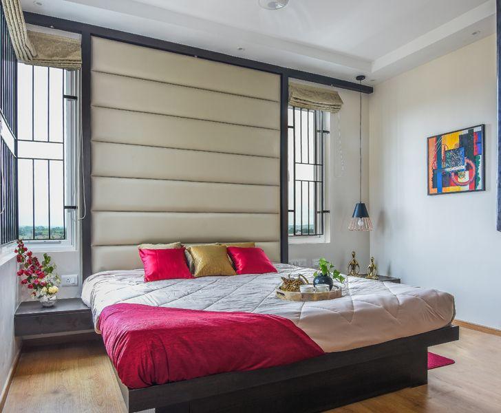 """airy bedroom Bengaluru home InteriorsByRanjani indiaartndesign"""