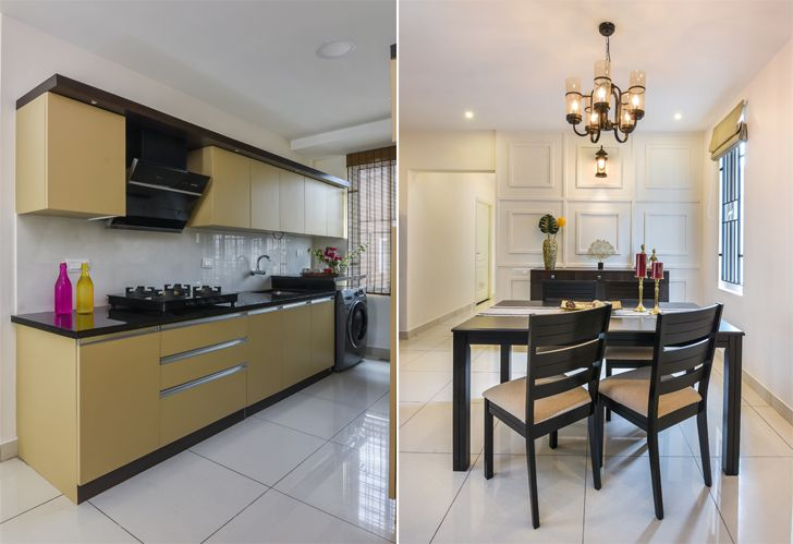 """kitchen and dining Bengaluru home InteriorsByRanjani indiaartndesign"""