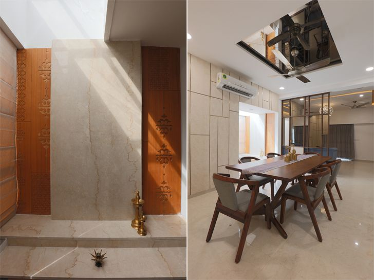 """puja and dining ahmedabad home IkaStudio indiaartndesign"""