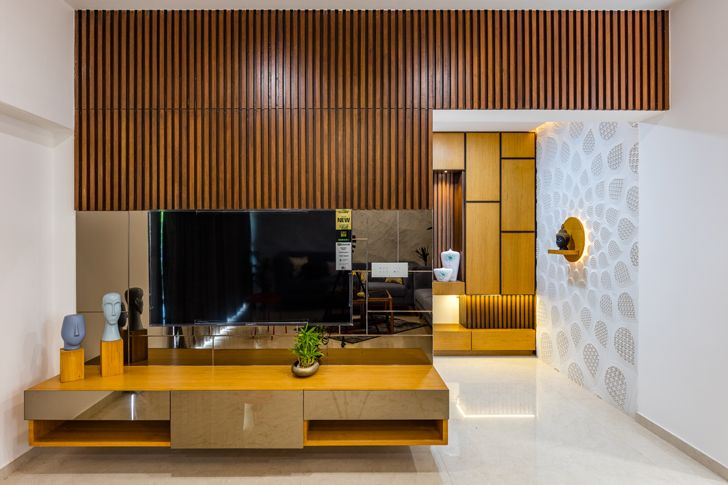 """tv unit ahmedabad home IkaStudio indiaartndesign"""