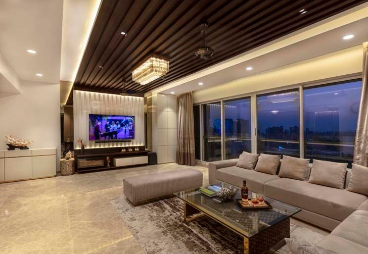 """living room mumbai residence milind pai architects indiaartndesign"""
