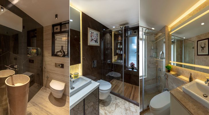 """luxurious bathrooms mumbai residence milind pai architects indiaartndesign"""
