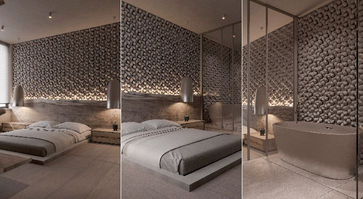 """bedroom suite with bathtub kyiv apartment sergey makhno architects indiaartndesign"""