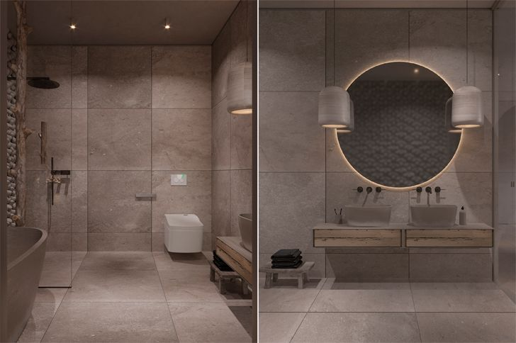 """luxurious bathroom kyiv apartment sergey makhno architects indiaartndesign"""