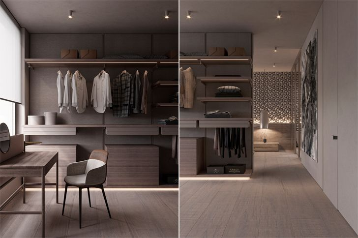"""walk in wardrobe kyiv apartment sergey makhno architects indiaartndesign"""