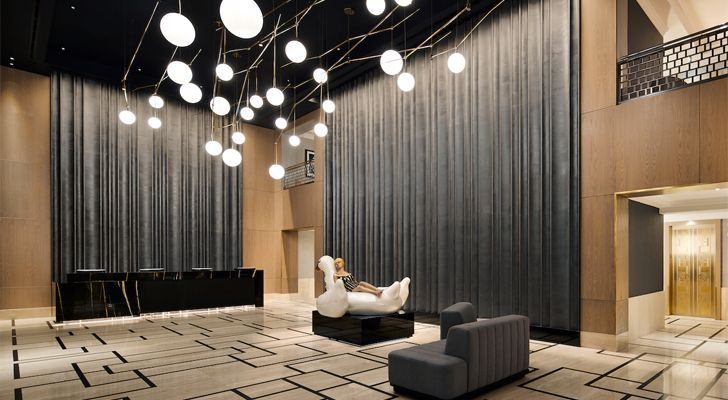 Calculated restraint amps up the interiors of Conrad New York Midtown
