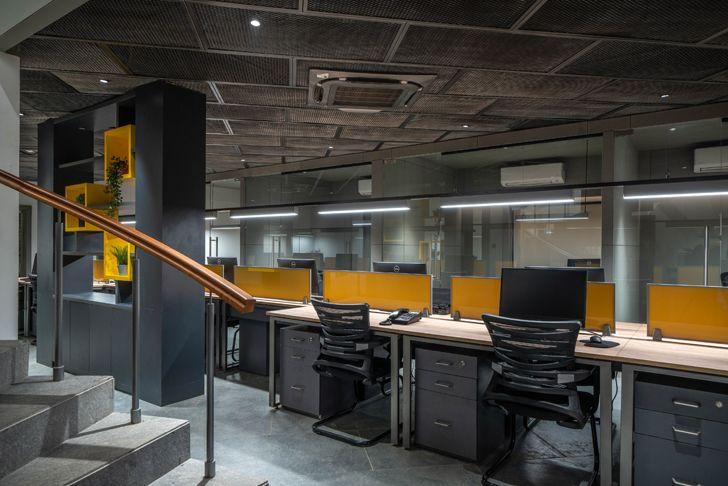 """central workstation Numi office hyderabad Urban Zen Architects indiaartndesign"""