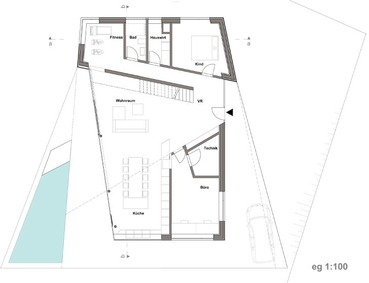 plan HouseMesh CaramelArchitects indiaartndesign