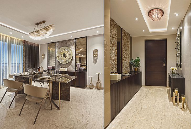 entrance and dining MumbaiResidence MilindPaiArchitects indiaartndesign