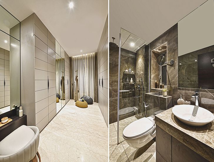 luxurious bathrooms MumbaiResidence MilindPaiArchitects indiaartndesign